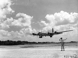 40th Air Expeditionary Wing - 42-42795 landing on Tinian, 1945