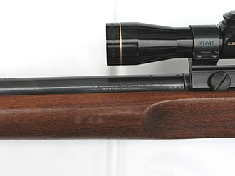 """Remington Model 513 - Left side of the Remington 513T.  You can see the """"AA"""" date code stamp on the barrel."""
