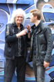 51 Degrees Composer and Queen guitarist Brian May with director Grigorij Richters outside Sarm Studios after a recording session..png