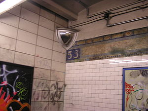 53rd Street (BMT Fourth Avenue Line) - A former station name mosaic