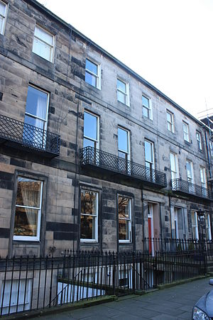 Alexander Dickson (botanist) - Dickson's house at 6 Fettes Row, Edinburgh