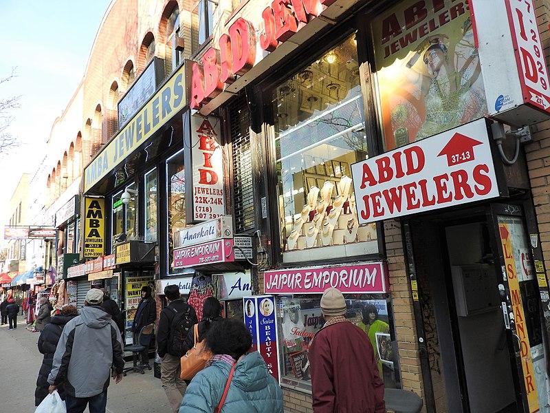 File:74th St shopping Jax Hts jeh.jpg