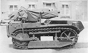 75 mm Gun M1916 - US 75mm Gun M1916 on Mark VII SP Caterpillar Mount