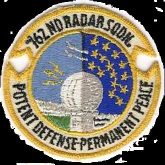 North Truro Air Force Station - 762d Radar Squadron emblem