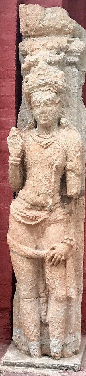 Sirpur (Chhattisgarh) - A 8th to 9th century artwork from a Hindu temple ruin in Sirpur.