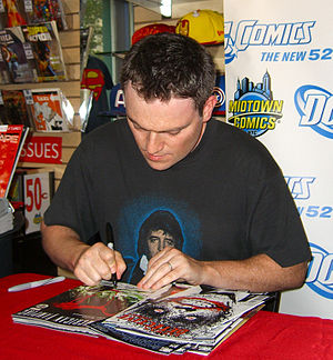 Scott Snyder - Snyder signing copies of American Vampire and Detective Comics at a September 21, 2011 store appearance.