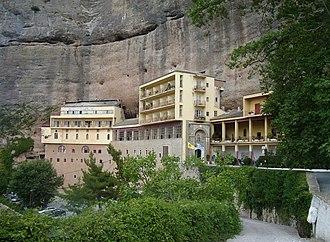 Mega Spilaio - View of the monastery in 2016