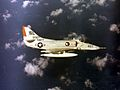A-4E Skyhawk from VA-12 in flight over the Med in 1965.jpeg
