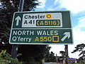 A41-A550 junction sign, Childer Thornton.JPG