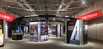 Oracle Team USA 17 -  AC72 on Display at The Mariners' Museum