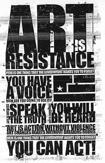 An Art is Resistance flyer from the Year Zero alternate reality game AIR flier.jpg