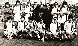 Una formazione del Taranto di fine anni settanta