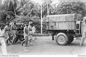 2/15th Field Regiment (Australia) - Lieutenant Colonel John O'Neill's funeral procession, November 1941.