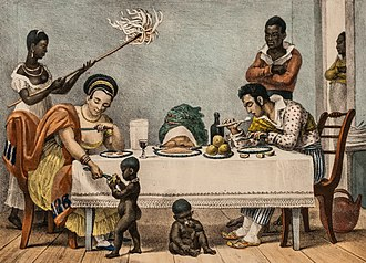 Mixed-race Brazilian - A Brazilian family of the 19th century.