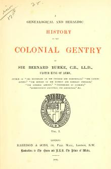 A Genealogical and Heraldic History of the Colonial Gentry Vol 1.djvu