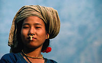 A Limbu Woman from the Himalayas