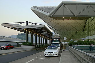 Hong Kong International Airport - A front view of Hong Kong Airport