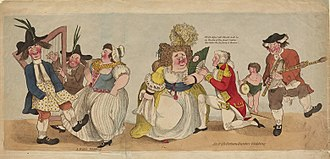 Satire - 'A Welch wedding' Satirical Cartoon c.1780