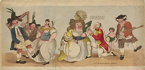 'A Welch wedding' Satirical Cartoon c.1780 A Welch wedding. Satire c.1780.jpg