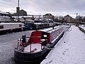 A frozen Calder and Hebble Navigation Canal - geograph.org.uk - 2208814.jpg