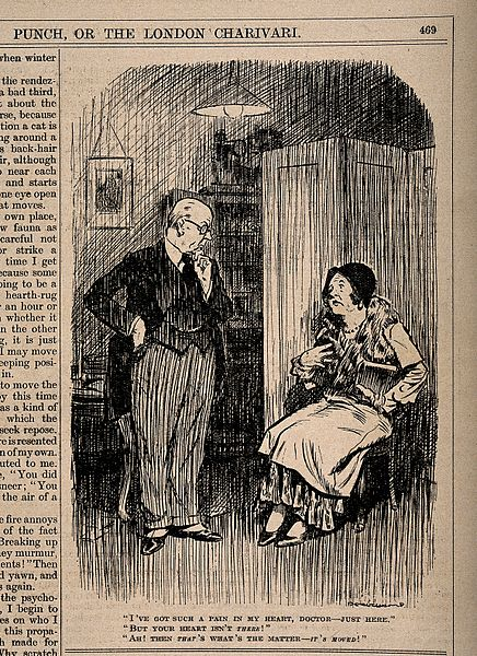 File:A hypochondriac tells her doctor that she has a pain in her Wellcome V0011548.jpg