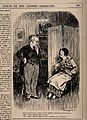 A hypochondriac tells her doctor that she has a pain in her Wellcome V0011548.jpg