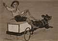 A little boy sitting on a box cart and driving a dog (HS85-10-23949).jpg