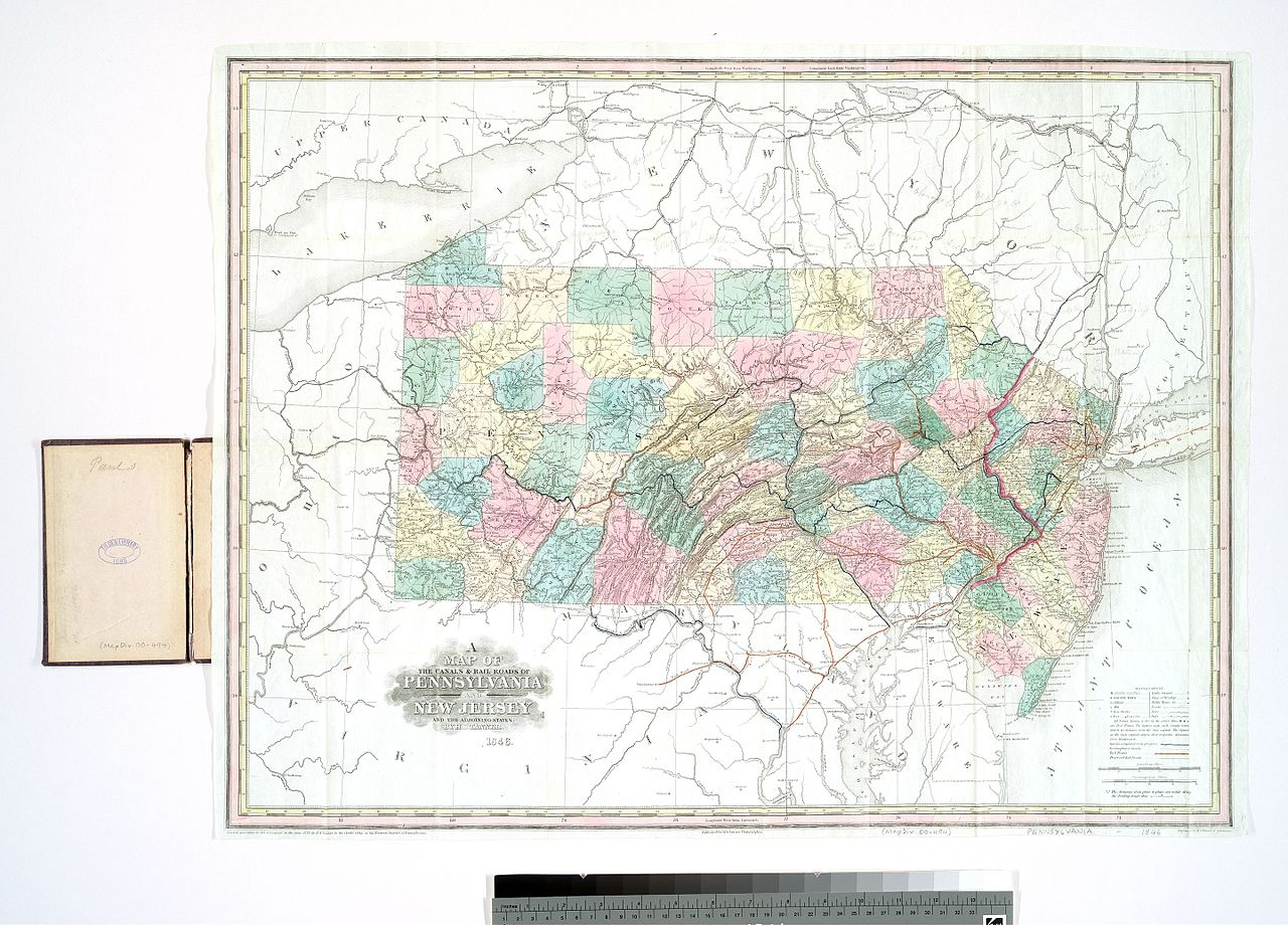 Historical Gold Chart 100 Years: A map of the canals 6 rail roads of Pennsylvania and New ,Chart