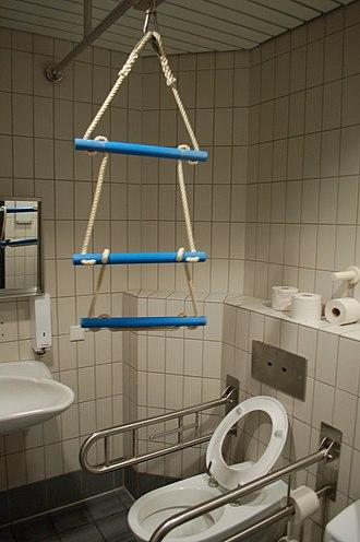 Accessible toilet - Image: Accessible toilet Frankfurt
