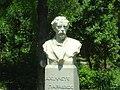 Achilles Paraschos, Greek poet statue, Athens 2009.jpg
