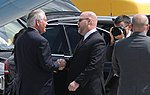 Acting Deputy Chief of Mission Jeffrey M. Hovenier Welcomes Secretary of State Tillerson to Germany for the G20 (35761210155).jpg