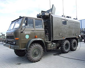 Star 266 - ADK-11 command and staff vehicle with a KUNG shelter of the Polish Land Forces during MSPO 2006.