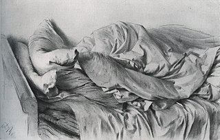 Adolph Menzel's illustration of his unmade bed