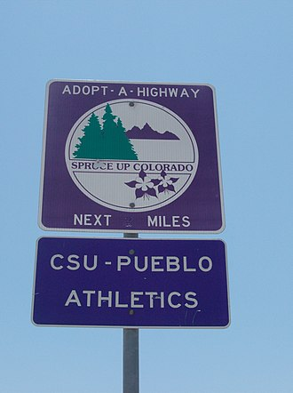 Adopt-a-Highway - An adopt-a-Highway sign in Colorado