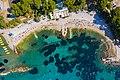 Aerial view of Ovcice beach in Split, Croatia (48608738747).jpg