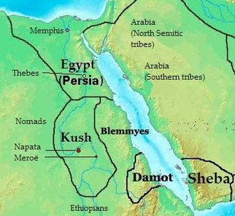 Abyssinian people - Approximate realm of the ancient Kingdom of Dʿmt.