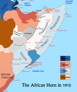 The Geledi Sultanate circa 1915 AD