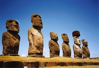 Oceania - Moai at Ahu Tongariki on Rapa Nui (Easter Island)