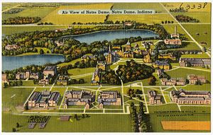 History of the University of Notre Dame - Campus between 1930 and 1945 circa
