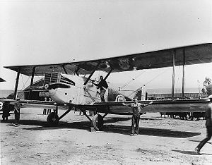 First aerial circumnavigation - The aircraft shown here, Chicago, led the first round the world flight in 1924.
