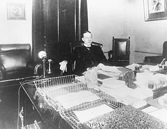 Al Smith - Smith at his desk in the New York Assembly in 1913