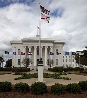 English: Capitol building, Montgomery, Alabama .
