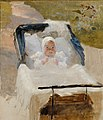 Albert Edelfelt - The Artist's Son Erik in a Pram , The Artist´s Son Erik in his Perambulator - A III 1971 - Finnish National Gallery.jpg