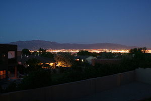 Dusk in Albuquerque, New Mexico, taken from we...