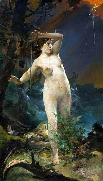 Lithuanian mythology - Goddess Milda by Kazimierz Alchimowicz (1910), National Museum in Warsaw