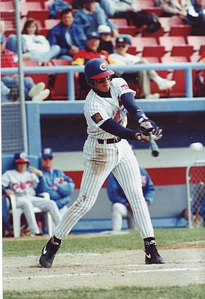 Alex Rodriguez - Rodriguez batting for the Calgary Cannons in 1994