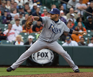Tampa Bay Rays - Rays' current road uniform, Alex Torres pitching.