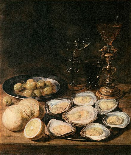 Still-Life with Oysters by Alexander Adriaenssen Alexander Adriaenssen - Still-Life with Oysters - WGA0035.jpg