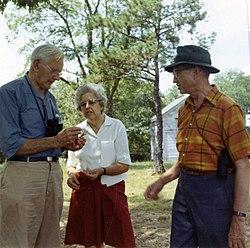 Alexander Wetmore (1886-1978), Annie Beatrice van der Biest Thielan Wetmore (1910-1997), and John Warren Aldrich (1906-1995).jpg