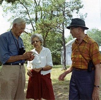 John Warren Aldrich - Aldrich (right) with Alexander Wetmore and Annie Beatrice van der Biest Thielan Wetmore, 1969